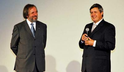 Gino Buscaglia, president of Castellinaria and Sandro Rusconi director of Culture and university studies Department