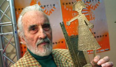 Christopher Lee and the Castello d'Onore Award