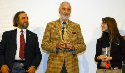 Christopher Lee, Gino Buscaglia and a member of the Jury
