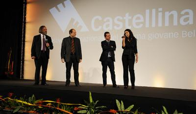 President, Director, Matteo Pavesi, director of Milan film archive, Francesca Badalini, pianist